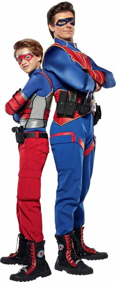 JAMES DIMMOCK/NICKELODEON Jace Norman suits up with Cooper Barnes in 'Henry Danger.'
