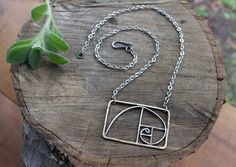 Mixed Metal Golden Ratio Necklace by AgateandElm on Etsy