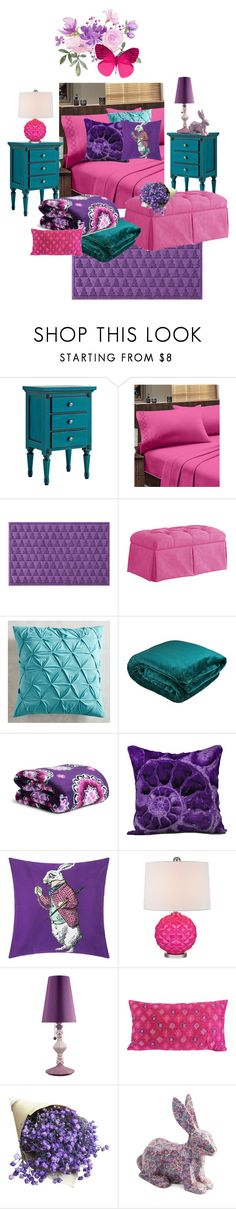 """""""Color Loving Bedroom"""" by wendycecille ❤ liked on Polyvore featuring interior, interiors, interior design, home, home decor, interior decorating, Ballard Designs, Home Sweet Home Dreams, WaterGuard and Pier 1 Imports"""