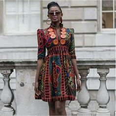 I love this African print dress