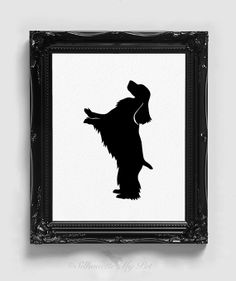 English Cocker Spaniel Silhouette  Handcut by silhouetteMYpet, $18.00