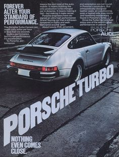 Porsche Turbo #porsche #ads