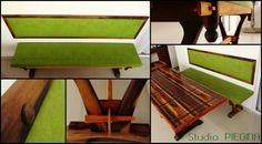 Banco sob medida em madeira de demolição - Peroba/Imbuia/Canela - Studio Piegina