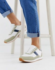 ASOS DESIGN retro trainers in stone with gum sole at ASOS. Shop this season's must haves with multiple delivery and return options (Ts&Cs apply). Retro Sneakers, Adidas Sneakers, Trainers, Latest Trends, Asos, Stone, Shopping, Design, Fashion
