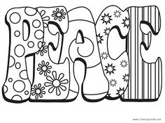 Coloring pages for adults only alphabet coloring pages s adult coloring pages pinterest - Dessin peace and love ...