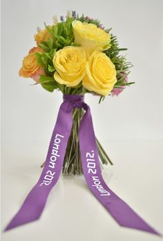 Olympic Victory Bouquet is Home Grown in Britain : The bouquets features roses and fragrant plants, such as herbs.