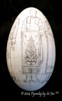 Korovai Ukrainian Easter Egg Pysanky By So Jeo Preliminary Sketches