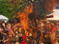 Witch burning at Ladronka. Photo: Raymond Johnston