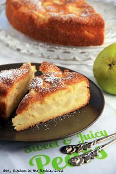 Easy French Dessert - Gâteau Fondant Aux Poires - French Pear Tart My Kitchen in the Rockies Pear Recipes, Sweet Recipes, Cake Recipes, Dessert Recipes, German Recipes, Pear Dessert, French Desserts, Just Desserts, Delicious Desserts