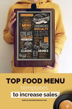 All food menus Archives - Barcelona Design Shop Food Menu Design, Food Truck Design, Restaurant Menu Design, Restaurant Recipes, Burger Menu, Pizza Menu, Food Menu Template, Menu Templates, Brunch Menu