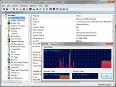 SIW is a System Information tool that gathers detailed information about your system properties and settings. A utility that includes detailed specs for  Hardware, Software and Network as well as real-time monitors for CPU, Memory, Page File usage and network traffic. Shows used TCP and UDP Ports. Windows 9x password retriever. Serial Number (CD key) for operating system and applications. Show Hidden Passwords.