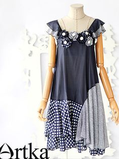 darling starry night patched dress  #asianicandy #artka #indie fashion