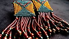 fringed cavandoli earrings - micro macrame tutorial