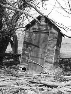 outhouse by AsSceneByVal, via Flickr