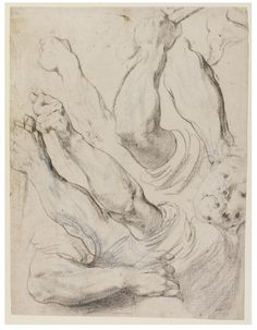 Peter Paul Rubens - studies of arms for the painting The Death of Decius Mus