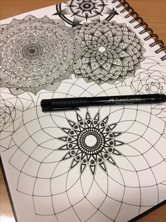 Great idea to combine Spirograph with Zentangle