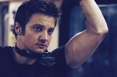 Jeremy Renner as Brian Gamble ( S.W.A.T ) this is why hawk eye is called arms by the fangirls lol