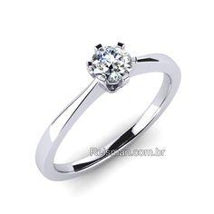 Alianças   Casamento, Noivado, Ouro 18K. Anel De Noivado SimplesAnel De  Noivado SolitárioAnel Solitário De DiamanteAnel Solitario ... 50dbf826a1