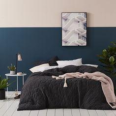 Empire Jersey Quilt Cover Black Marle
