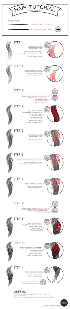 Adobe Illustrator Hair Tutorial