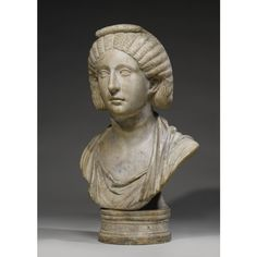 A Marble Portrait Bust of a Woman, Roman Imperial, quarter of the Century A. Egyptian, Roman Hairstyles, Auction, Historical Women, Female Clothing, Sculpture, Antiquities, Westerns, Modern Art