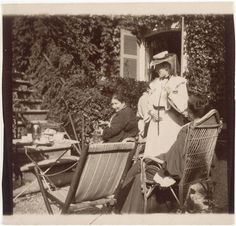 Edouard Vuillard | Madame Eugène Bonnard, Misia et Ida Godebska au Grand Lemps 1900
