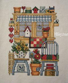 Cross Stitch House, Cross Stitch Borders, Cross Stitch Alphabet, Simple Cross Stitch, Cross Stitch Samplers, Modern Cross Stitch, Cross Stitch Charts, Cross Stitch Designs, Cross Stitching