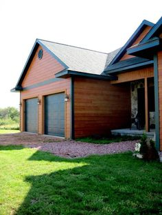 This house features lp smartside siding and shakes in for Lp smartside lap siding sizes