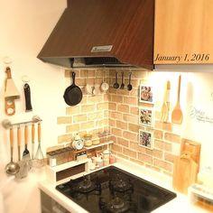 Kitchen/ダイソー/IKEA/スパイスラック/ニトリ/セリア...などのインテリア実例 - 2016-01-01 12:26:33
