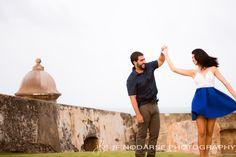 Engagement in El Morro Castle in Old San Juan, Puerto Rico www.jfnodarse.com