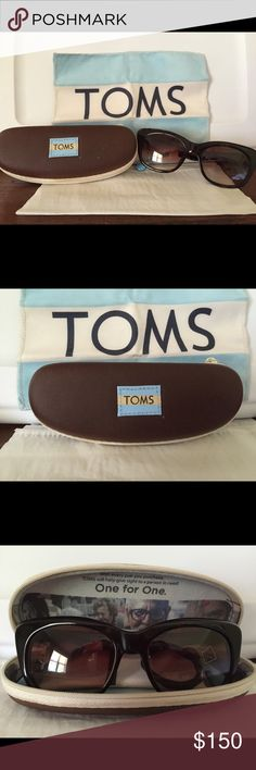 Toms Sunglasses (NWOT) Super cute Toms Kitty Sunglasses. I received them as a gift, never wore them to attached to my old sunglasses. Perfect condition, no scratches on lenses. Comes with brown hard zip Toms case and microfiber cleaning cloth. If you have any questions feel free to ask. TOMS Accessories Sunglasses