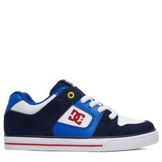 7d50bcd59d6e DC Shoes Kids  Pure Skate Shoe Pre Grade School Shoes (Navy Red