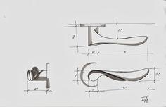 door handle sketch - Iskanje Google