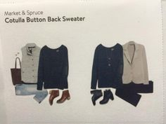 Market & Spruce Cotulla Button Back Sweater -- saw this on a stitch fix blog and loved it!!  Yes please!