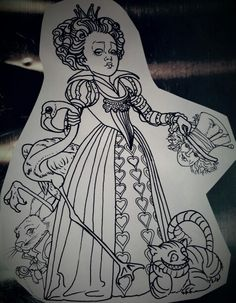 Photo Of Alice In Wonderland Line Drawings For Fans Of