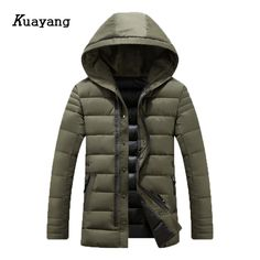 38.99$  Buy now - http://alihth.shopchina.info/1/go.php?t=32816594990 - 2017 New Arrival Winter Jacket Men Thick Long Parkas with hat jaqueta masculina cotton coat casacos de inverno masculino FLD0129  #aliexpress