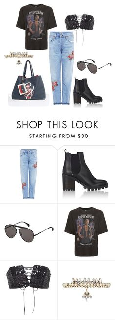 """""""Untitled #85"""" by xxapril on Polyvore featuring Citizens of Humanity, Barneys New York, Tommy Hilfiger, Topman, Sally Lapointe and Erickson Beamon"""