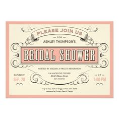 Unique Vintage Bridal Shower Invitations  Can be purchased by clicking on card and then click website.