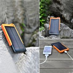 Solar Portable Charger Backup Power charge your phone, tablet and camera anywhere.