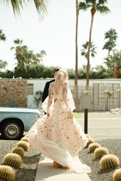 funky palm springs elopement tour with a star covered wedding dress in a 1965 Lincoln Covertible Los Angeles Wedding Photographer, Destination Wedding Photographer, Destination Wedding Welcome Bag, Destination Weddings, Outdoor Wedding Inspiration, Elopement Inspiration, Bridal Looks, Bridal Style, Greece Wedding
