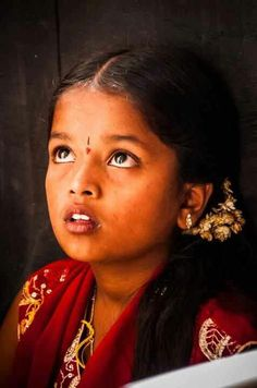 So beautiful traditional sweet India girl.