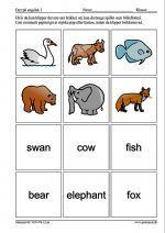 Billedlotteri/Vendespil med engelske ord for dyr