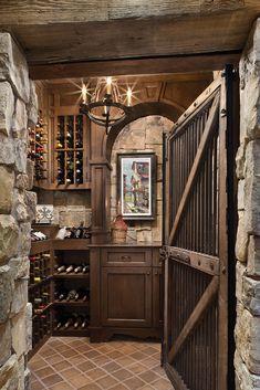 Wine Cellar! #winecellar #wine #mancave #cellar #interior design