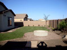 Bon Arizona Small Backyard Landscape Low Maintenance With Synthetic Grass.