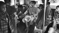 1960s  | Linda Brown (centre) sits at the back of a bus on her way to Monroe ...