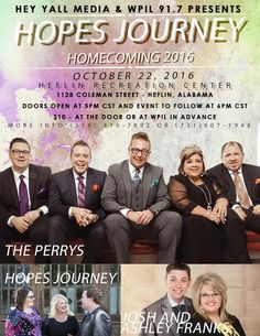 "Hope's Journey Announces ""BIG Homecoming"" in Heflin, Alabama"