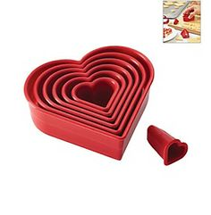 Cake Boss® Decorating Tools 7-pc. Red Nylon Heart Fondant and Cookie Cutter Set available at @Courtney Store.