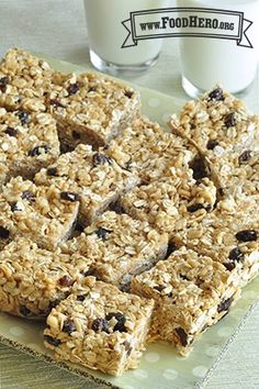 Breakfast No-Bake Granola Bars