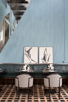 I love the interior design of this amazing 5 star hotel designed by Kelly Wearstler in San Francisco Hotel Room Design, Restaurant Interior Design, Commercial Interior Design, Luxury Restaurant, Restaurant Lighting, Kelly Wearstler, Contemporary Interior Design, Best Interior Design, Interior Design Inspiration