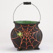 Glitter Spider Web Cauldron from World Market